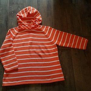 Ann Taylor Loft hooded cotton pullover XL